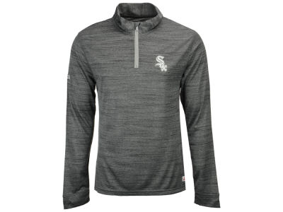 Chicago White Sox MLB Men's Poly Twist Mock Quarter Zip Pullover
