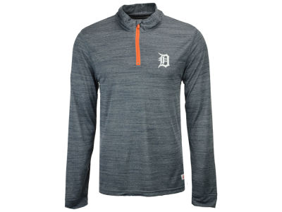 Detroit Tigers MLB Men's Poly Twist Mock Quarter Zip Pullover