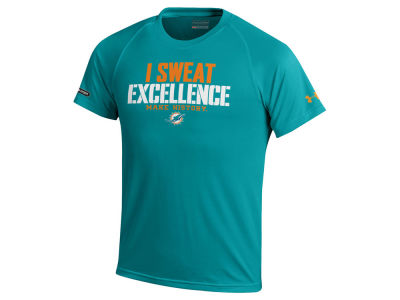 Miami Dolphins Under Armour NFL Youth Combine Sweat Excellence T-Shirt