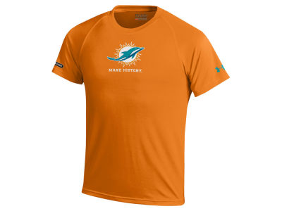 Miami Dolphins Under Armour NFL Youth Combine Primary Logo Tech T-Shirt