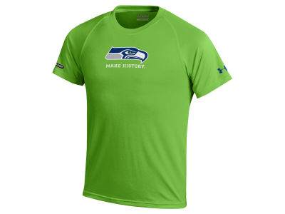 Seattle Seahawks Under Armour NFL Youth Combine Primary Logo Tech T-Shirt