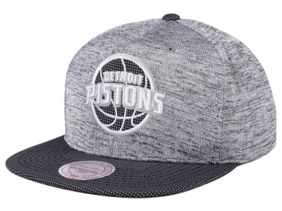 Detroit Pistons Mitchell & Ness NBA Space Knit Snapback Cap