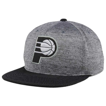 Indiana Pacers Mitchell & Ness NBA Space Knit Snapback Cap