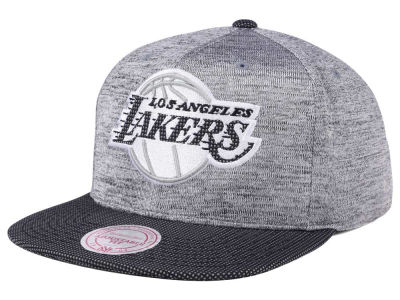 Los Angeles Lakers Mitchell & Ness NBA Space Knit Snapback Cap