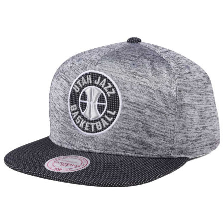 Utah Jazz Mitchell & Ness NBA Space Knit Snapback Cap