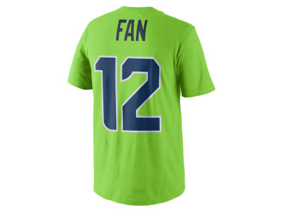 Seattle Seahawks Fan #12 Nike NFL Youth Pride Name and Number T-Shirt