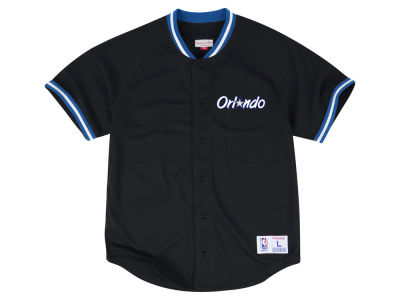 Orlando Magic Mitchell & Ness NBA Men's Seasoned Pro Mesh Button Front Jersey