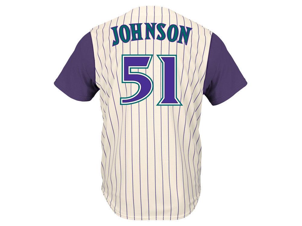 Arizona Diamondbacks Randy Johnson Majestic MLB Men s Cooperstown Player  Replica CB Jersey  2492c14c5