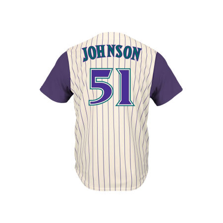 Arizona Diamondbacks Randy Johnson Majestic MLB Men's Cooperstown Player Replica CB Jersey