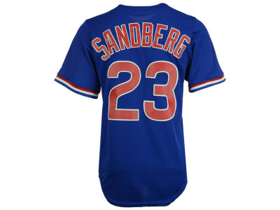 Chicago Cubs Ryne Sandberg Majestic MLB Men's Cooperstown Player Replica CB Jersey