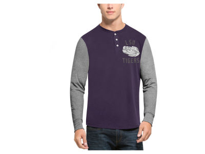 LSU Tigers '47 NCAA Men's Downfield Henley T-Shirt
