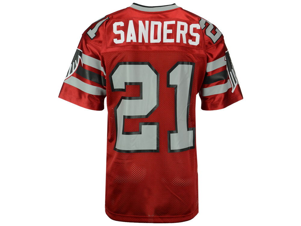 Atlanta Falcons Deion Sanders Mitchell   Ness NFL Men s Authentic Football  Jersey  d243cf500887