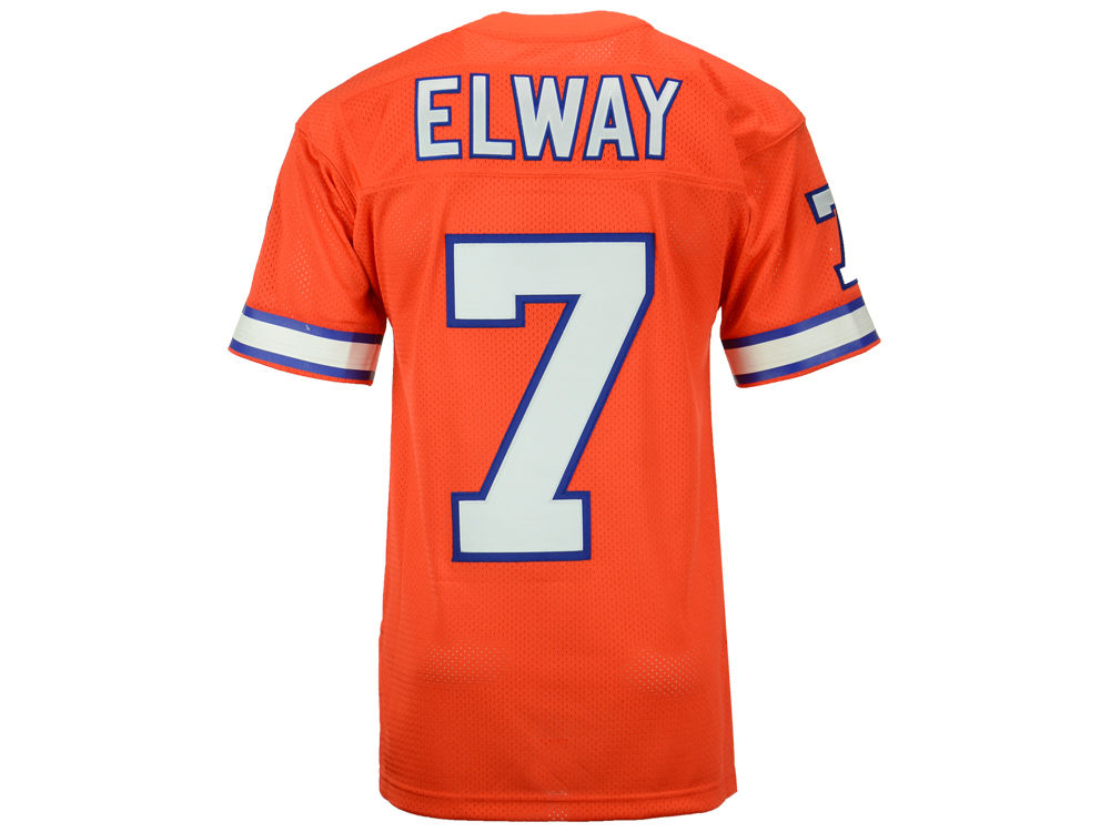 f191007bf64 Denver Broncos John Elway Mitchell   Ness NFL Men's Authentic Football  Jersey