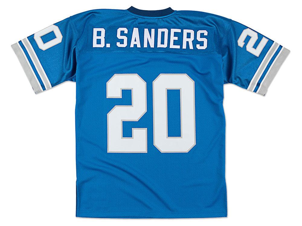Detroit Lions Barry Sanders Mitchell   Ness NFL Men s Authentic Football  Jersey  933587abc