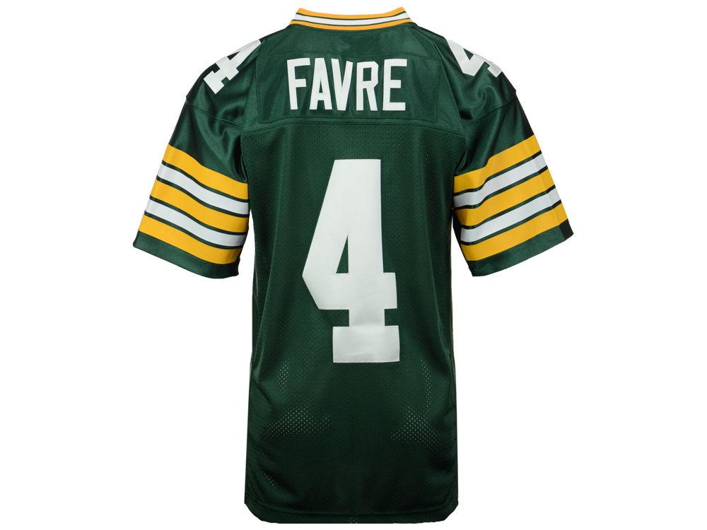 Green Bay Packers Brett Favre Mitchell   Ness NFL Men s Authentic Football  Jersey  eead7d7c3