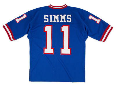 New York Giants Phil Simms Mitchell and Ness NFL Men's Authentic Football Jersey