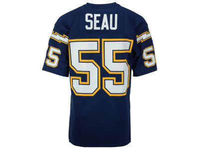 Los Angeles Chargers Junior Seau Mitchell and Ness NFL Men's Authentic Football Jersey