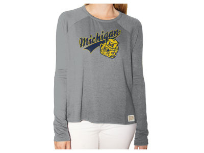 Michigan Wolverines Retro Brand NCAA Women's Vintage Long Sleeve T-Shirt