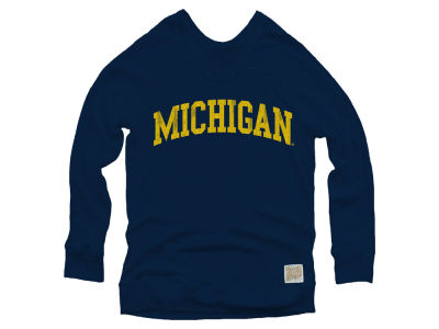 Michigan Wolverines Retro Brand NCAA Women's Quad Sweatshirt