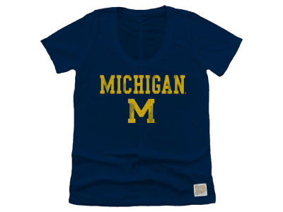 Michigan Wolverines Retro Brand NCAA Women's Scoop Vintage T-Shirt