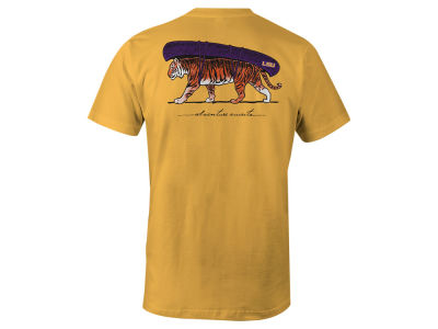 LSU Tigers LIDS Men's Mascot Canoe Lifestyle T-Shirt