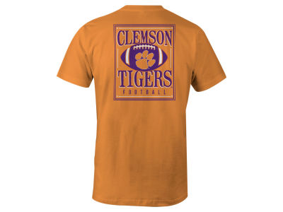 Clemson Tigers LIDS NCAA Men's Distressed Football T-Shirt