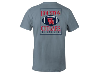 Houston Cougars LIDS NCAA Men's Distressed Football T-Shirt