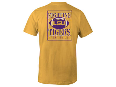 LSU Tigers LIDS NCAA Men's Distressed Football T-Shirt