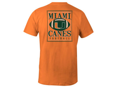 Miami Hurricanes LIDS NCAA Men's Distressed Football T-Shirt