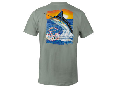 Miami Hurricanes LIDS NCAA Men's Fishing Pocket T-Shirt