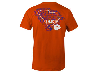 Clemson Tigers LIDS NCAA Men's State Verbiage T-Shirt