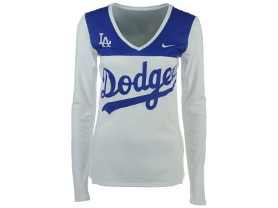 Los Angeles Dodgers MLB Women's Blocked Long Sleeve T-Shirt