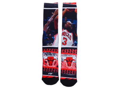 Chicago Bulls Dwyane Wade NBA Hard Play 2 Crew Socks