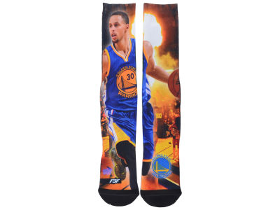 Golden State Warriors Steph Curry NBA Starting Lineup Crew Socks