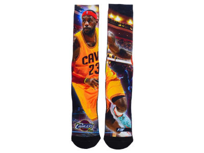 Cleveland Cavaliers LeBron James For Bare Feet NBA Starting Lineup Crew Socks