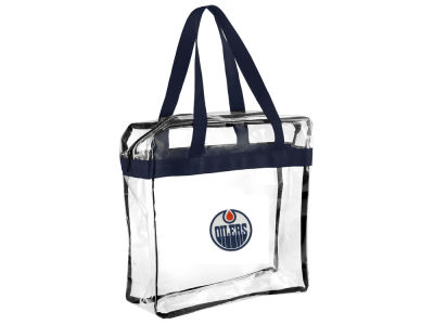 Edmonton Oilers NHL Clear Carryall Crossbody Bag