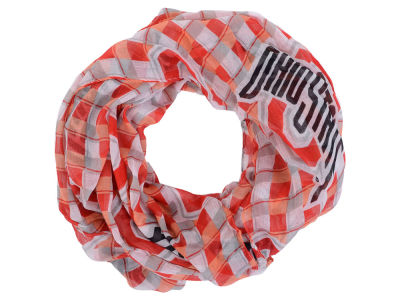 Ohio State Buckeyes Little Earth NFL Infinity Plaid Scarf