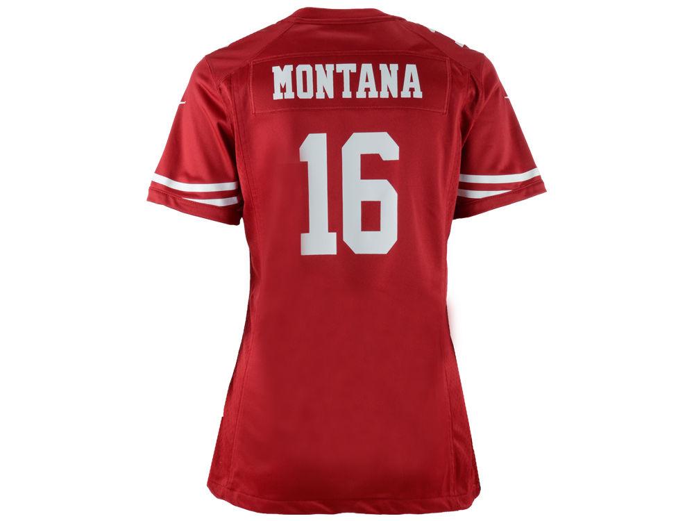 San Francisco 49ers Joe Montana Nike NFL Women s Game Jersey  57c466867a