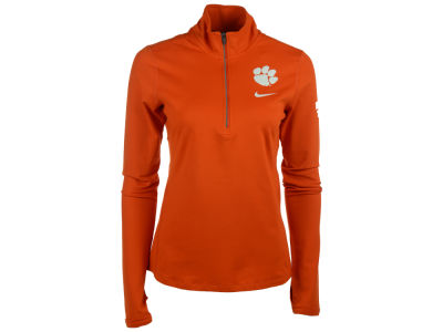 Clemson Tigers Nike NCAA Womens Tailgate Element Half Zip Shirt