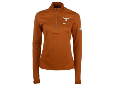 Texas Longhorns Nike NCAA Womens Tailgate Element Half Zip Shirt