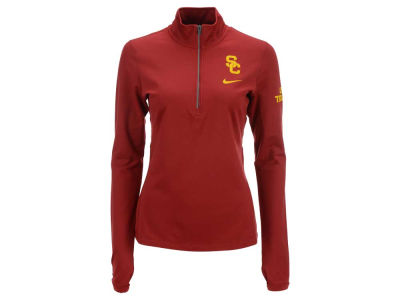 USC Trojans Nike NCAA Womens Tailgate Element Half Zip Shirt