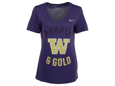 Washington Huskies Nike NCAA Women's Tr-Blend Mid Vneck T-Shirt