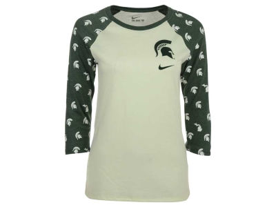Michigan State Spartans Nike NCAA Women's Triblend Veer Raglan T-Shirt