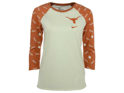Texas Longhorns Nike NCAA Women's Triblend Veer Raglan T-Shirt