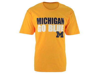 Michigan Wolverines NCAA 2 for $25 Colosseum NCAA Men's Wordmark Stack T-Shirt