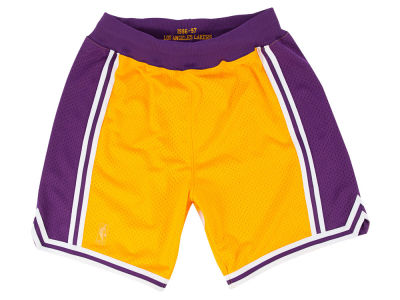 Los Angeles Lakers Mitchell and Ness NBA Men's Authentic NBA Shorts