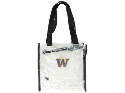 Washington Huskies Clear Square Zip Tote