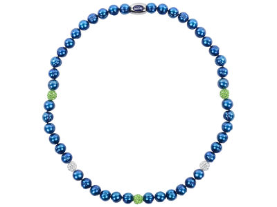 Seattle Seahawks Necklace with Sparkle Beads