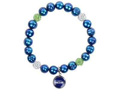 Seattle Seahawks Honora Honora Bracelet with Sparkle Beads and Charm
