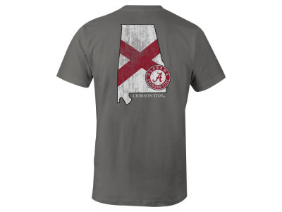 Alabama Crimson Tide NCAA Men's Mascot State Flag T-Shirt